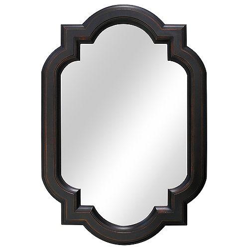 Miroir a cadre en trefle de 55,88 (22po)