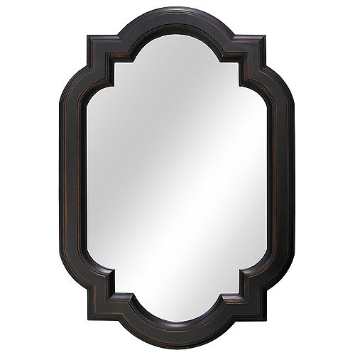 22-inch W x 32-inch L Framed Fog Free Wall Mirror in Oil Rubbed Bronze