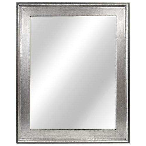 23-inch W x 29-inch L Framed Fog Free Wall Mirror in Two-Tone Pewter