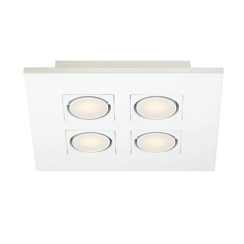 Luminaire carré à quatre ampoule à del monté en surface