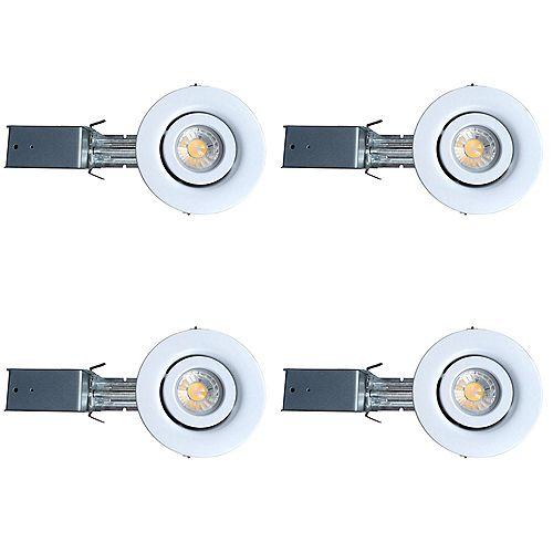 3 1/4-inch GU10 LED Gimbal Trim Kit (4-Pack)