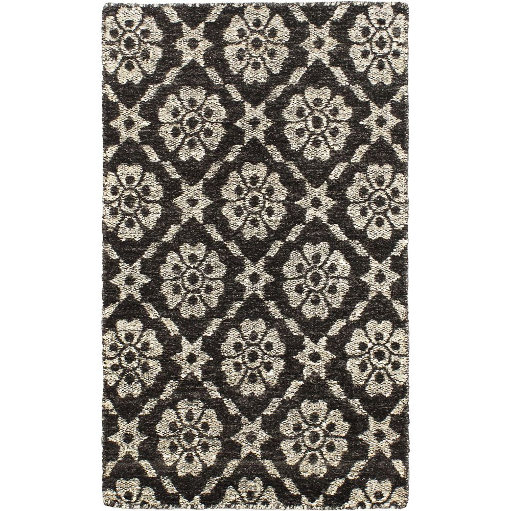 ECARPETGALLERY Hand Loomed Rodrigo Black 2 ft. 11-inch x 5 ft. 3-inch Indoor Contemporary Rectangular Runner