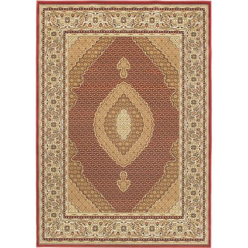 Classic Mahee Red 5 ft. 5-inch x 7 ft. 6-inch Indoor Traditional Rectangular Area Rug