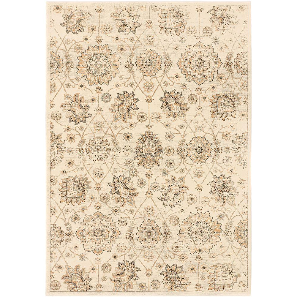 ECARPETGALLERY Carpette, 3 pi 11 po x 5 pi 3 po, rectangulaire, blanc cassé Shahrzad Anatolian