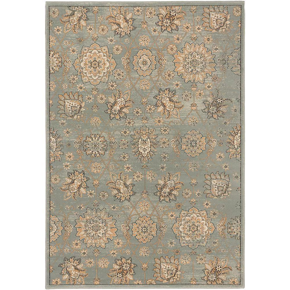 ECARPETGALLERY Carpette, 3 pi 11 po x 5 pi 3 po, rectangulaire, bleu Shahrzad Anatolian