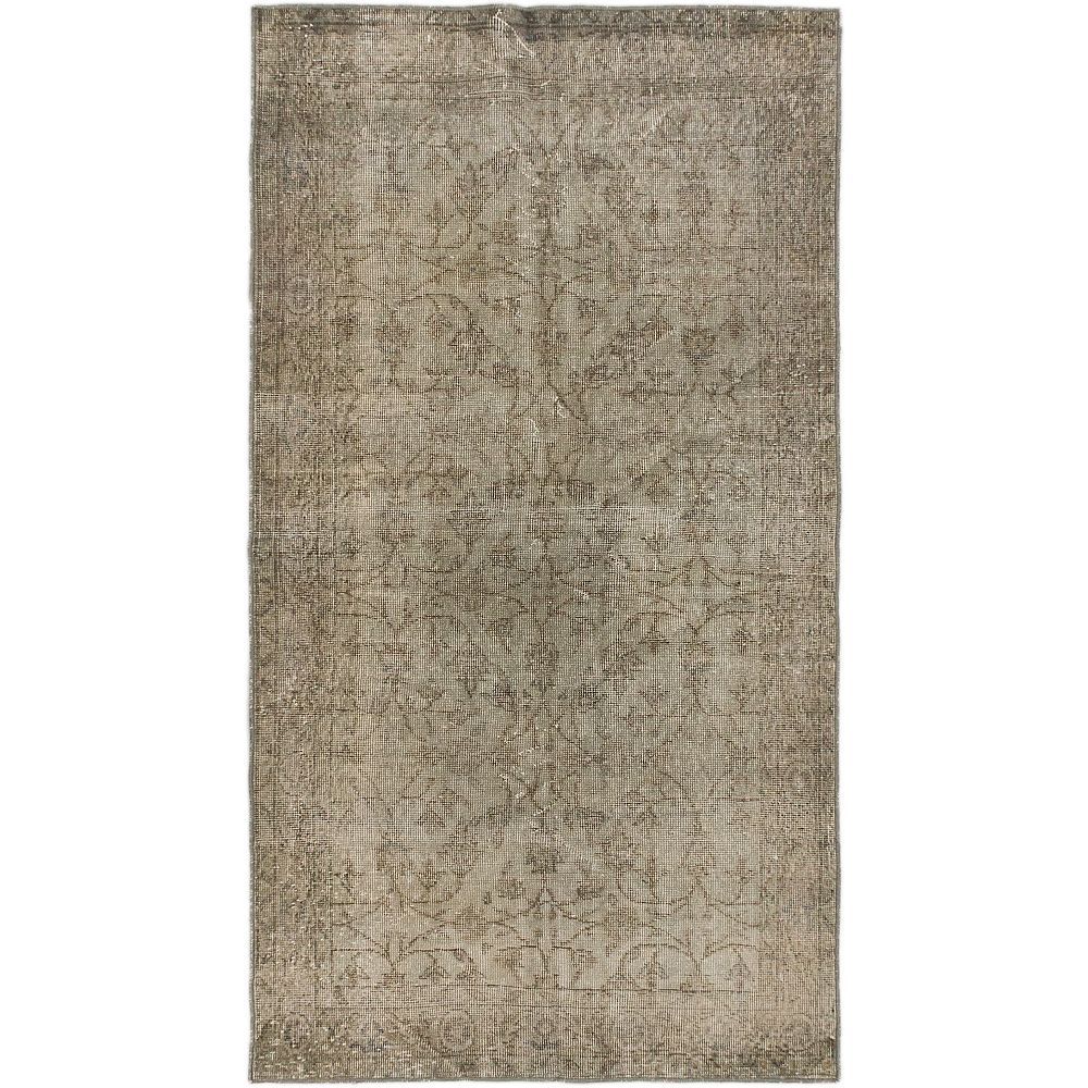 ECARPETGALLERY Hand-Knotted Anatolian Overdyed Grey 3 ft. 8-inch x 6 ft. 10-inch Rectangular Area Rug