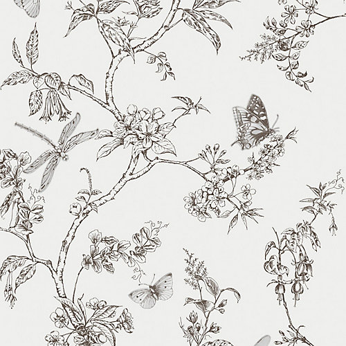 Nature Trail Black/White Wallpaper