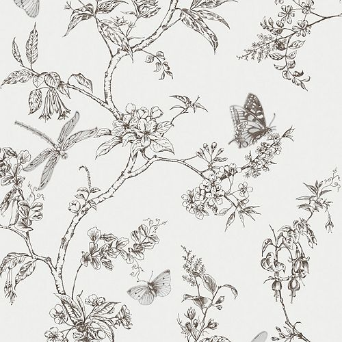 Sentier Nature Papier Peint Noir/Blanc