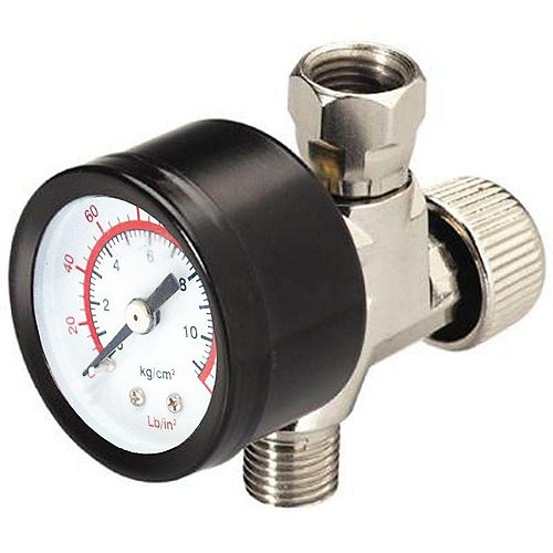 1/4-inch NPSM Air Adjustment Valve with Gauge