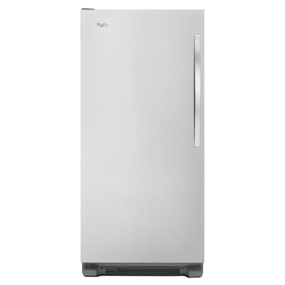 Whirlpool 30-inch W 18  cu. ft. SideKicks Frost Free Upright Freezer in Monochromatic Stainless Steel