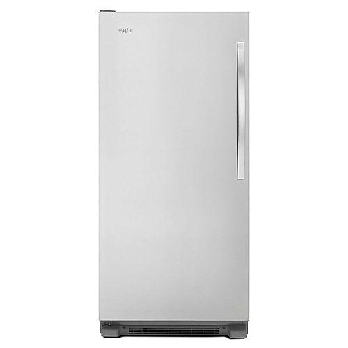 30-inch W 18  cu. ft. SideKicks Frost Free Upright Freezer in Monochromatic Stainless Steel