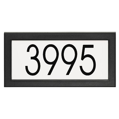 Modern Rectangular Address Plaque, Black and White