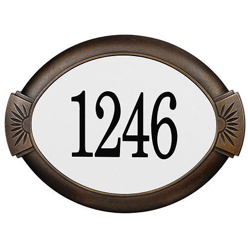 Classic Cast Aluminum Address Plaque, Antique Bronze