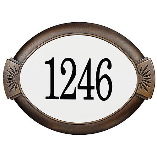 Plaque d'Adresse Classique en Aluminium, Bronze Antique