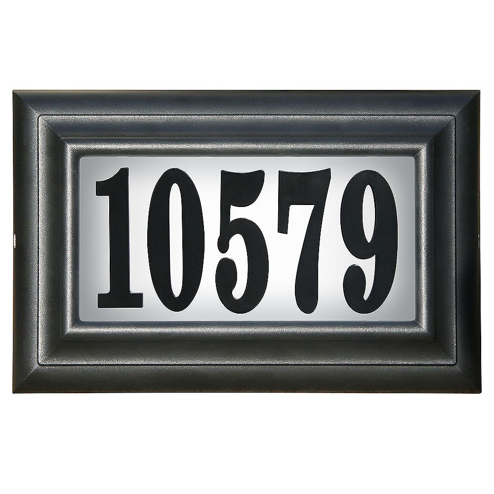 Pro Df Classic Lighted Address Plaque Black The Home Depot Canada