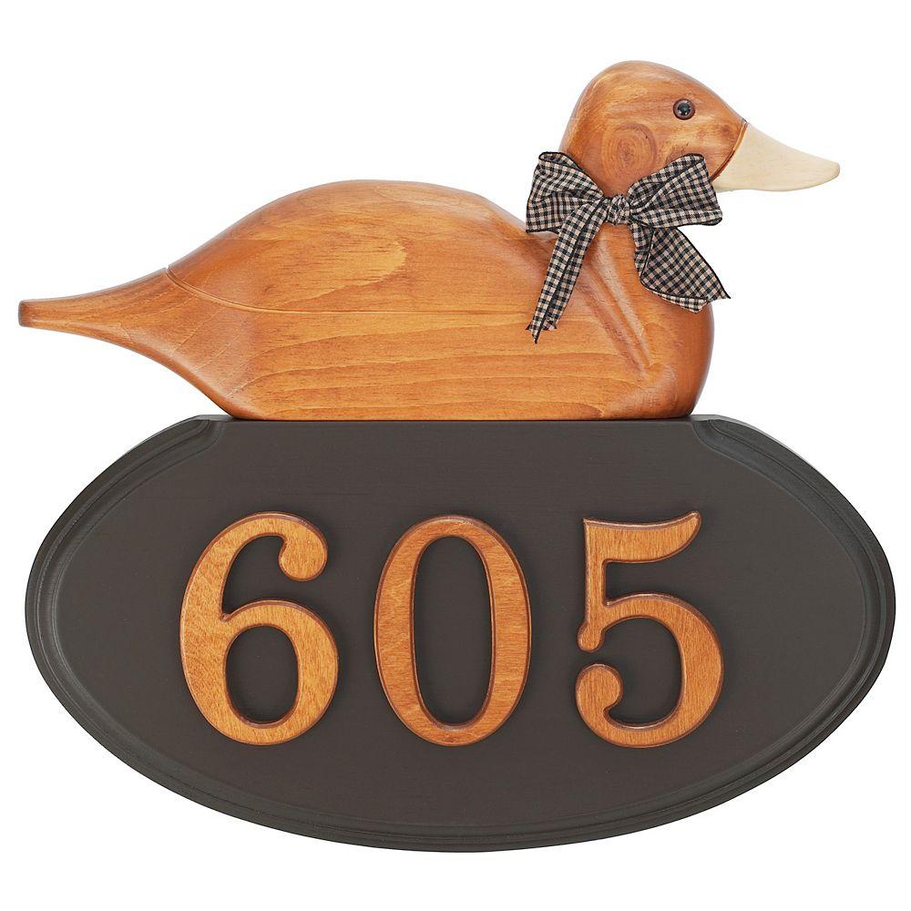 PRO-DF Duck Address Plaque, Mocha