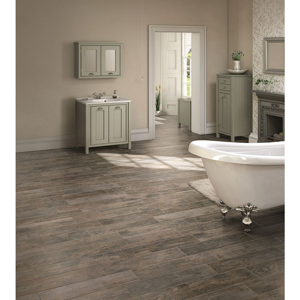 Marazzi Montagna Rustic Bay 6-inch x 24-inch Glazed Porcelain Floor and Wall Tile (14.53 sq. ft. / case)