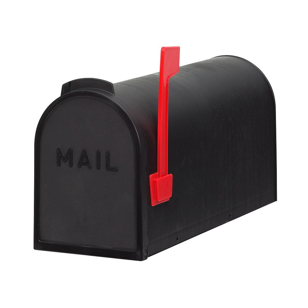 PRO-DF Economic Post Mount Curbside Mailbox, Black