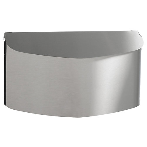 Contemporary Wall Mount Mailbox, Stainless Steel