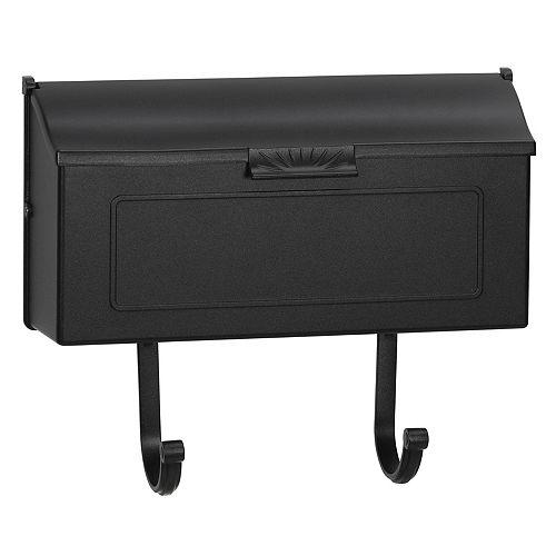 Classic Cast Aluminum Mailbox, Black