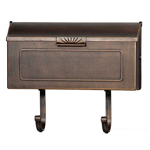 PRO-DF Classic Cast Aluminum Mailbox, Antique Bronze
