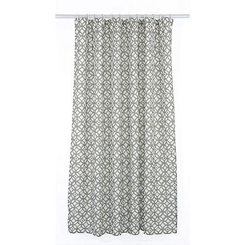 Madison ensemble de rideau de douche à motif géométrique (14 pièces), gris/blanc