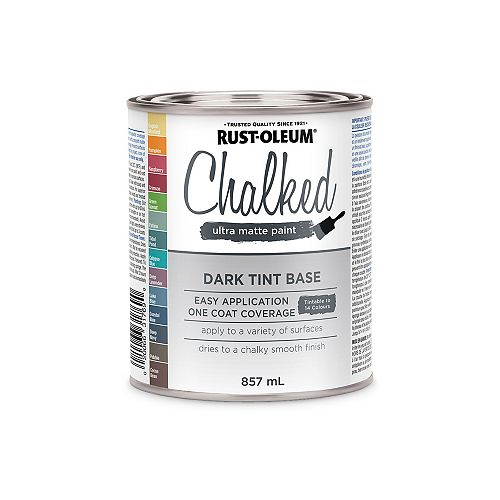 Rust-Oleum Chalked Ultra Matte Paint Dark Tint Base, 887 Ml