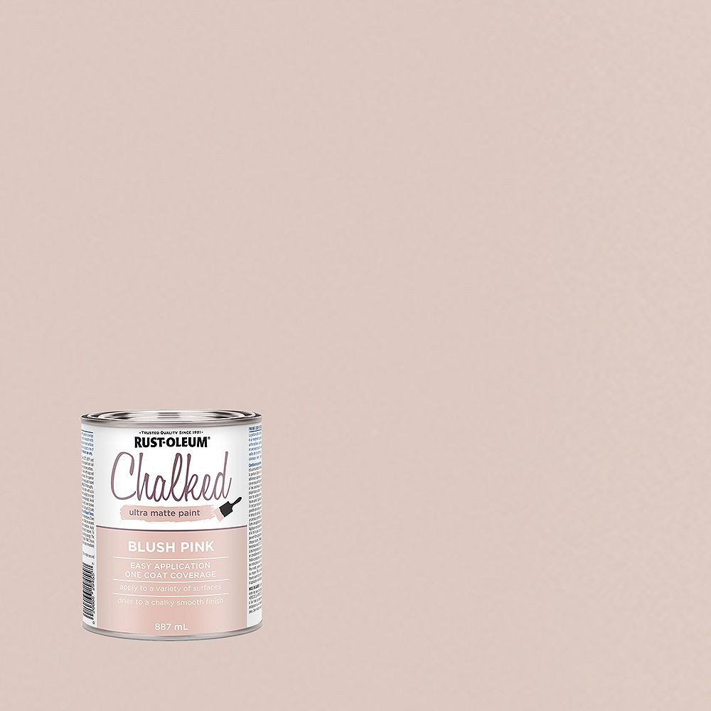 Rust-Oleum Chalked Ultra Matte Paint in Blush Pink, 887 Ml