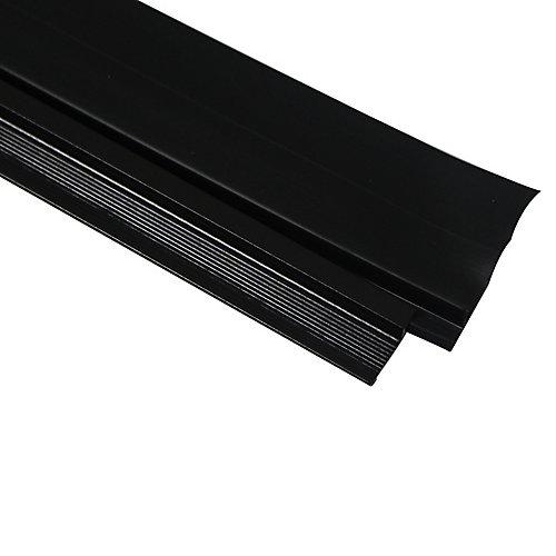 36po Bas de porte en vinyle à triple lame en aluminium de première qualité de CINCH - Brun