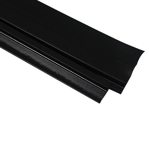 36-inch CINCH Premium Aluminum Triple Fin Vinyl Cinch Under Door Sweep  Brown