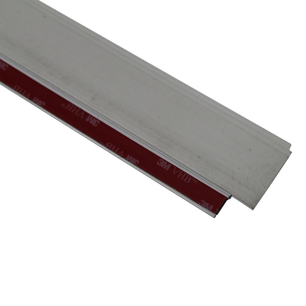 M-D Building Products 36-inch CINCH Premium Aluminum Triple Fin Vinyl Cinch Under Door Sweep  White