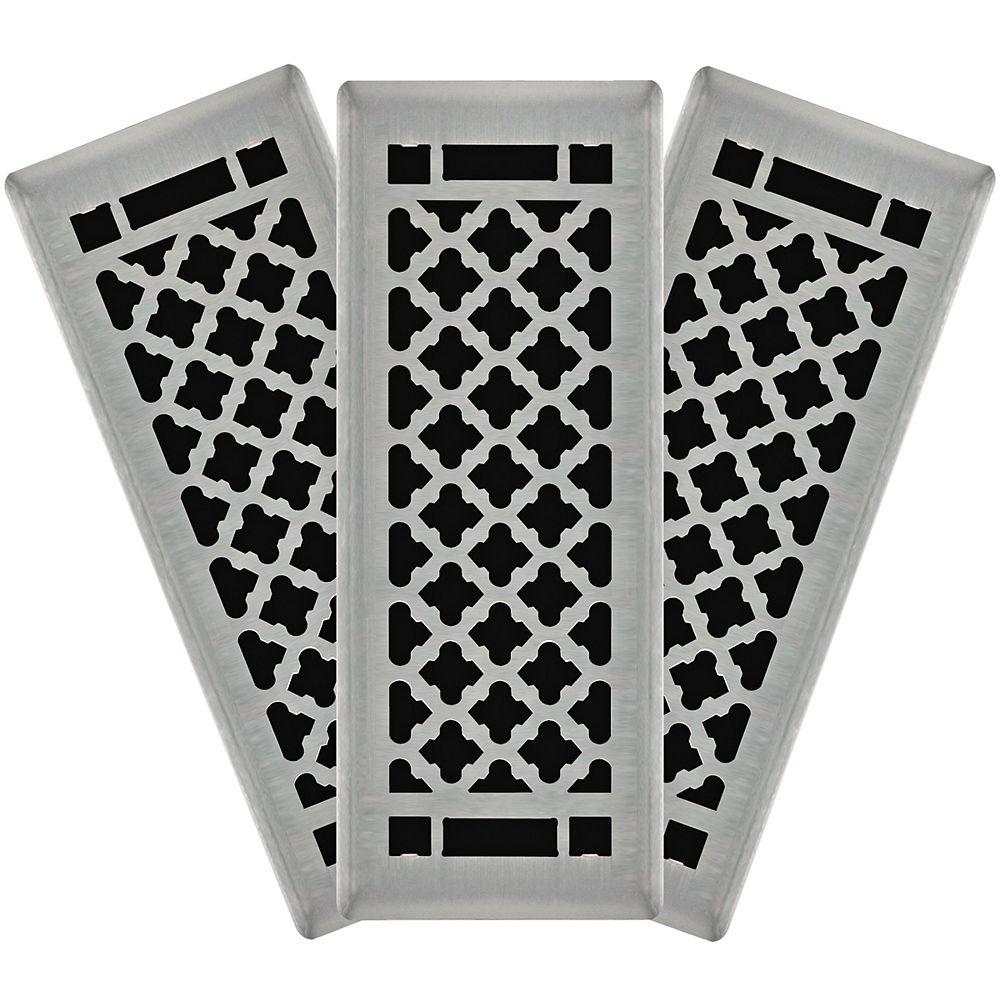 Hampton Bay 3X10 Designer Quatrefoil Floor Register (3-Pack)