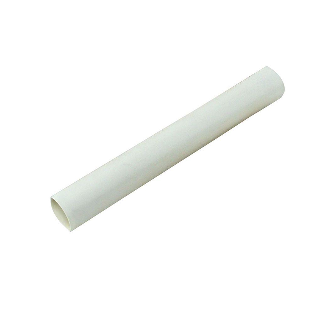 Gardner Bender Heat Shrink Tubing, 1/4 Inch - 1/8 Inch, White, 3 Inch, 5/Clam