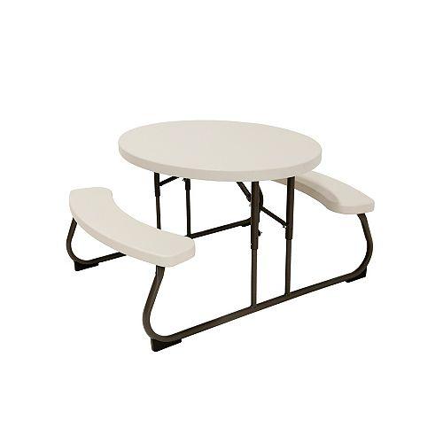 Table de pique-nique ovale pour enfants (amande)