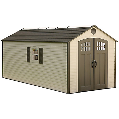 8 ft. x 17.5 ft. Plastic Storage Shed