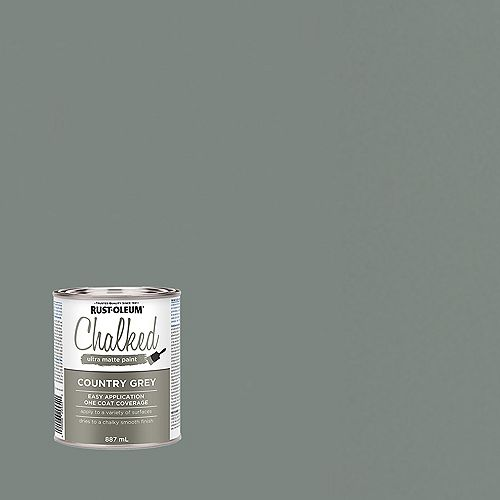 Chalked Ultra Matte Paint in Country Grey, 887 mL