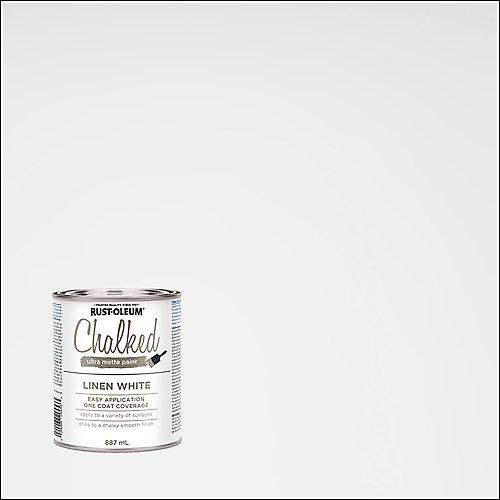 Peinture craie ultra-mate au linge blanc, 887 mL