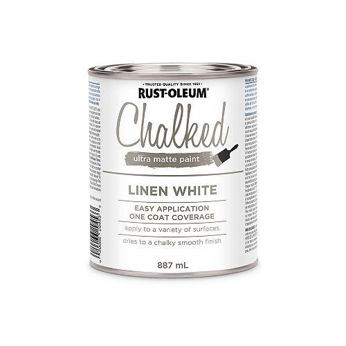 Peinture Ultra Mate Crayeuse En Blanc Lin - 887 Ml