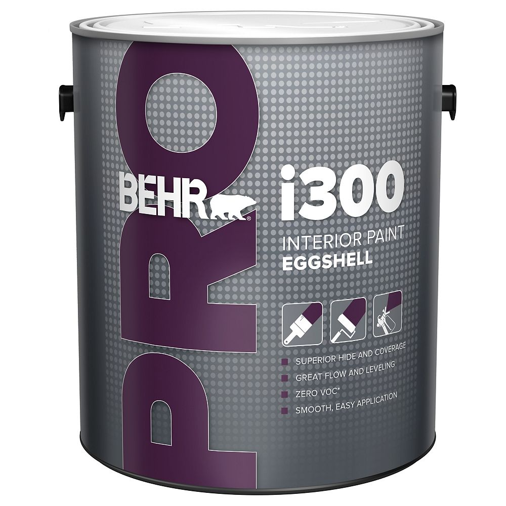 Behr Pro i300 Series, Interior Paint Eggshell - Deep Base, 3.79 L