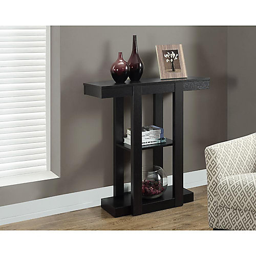 """32"""" Long Hall Console Table in Cappuccino"""