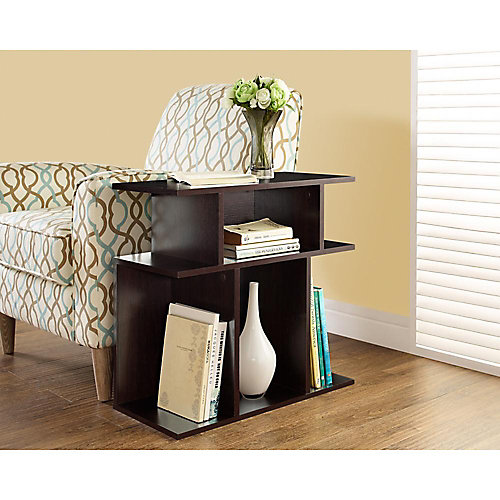 """Cappuccino 24""""H Accent Side Table"""