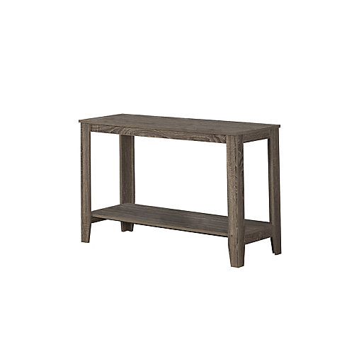 Dark Taupe Reclaimed-Look Sofa Console Table