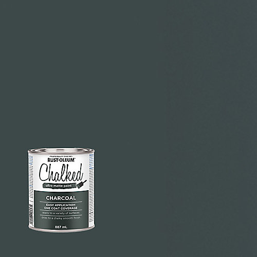 Chalked Ultra Matte Paint In Charcoal, 887 Ml