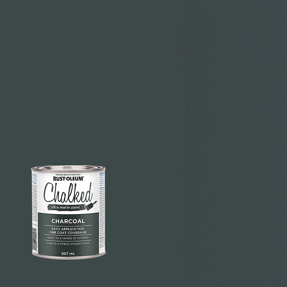 Rust-Oleum Chalked Ultra Matte Paint in Charcoal, 887 mL