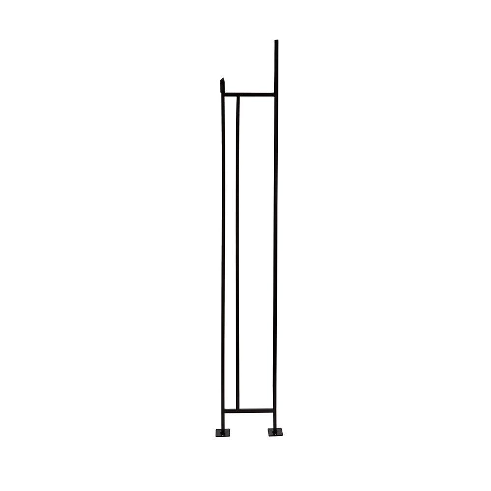"""Alexandria Moulding Balustre d'escalier en fer forgé noir satiné de 3/8"""" x 6"""" x 41 7/8"""