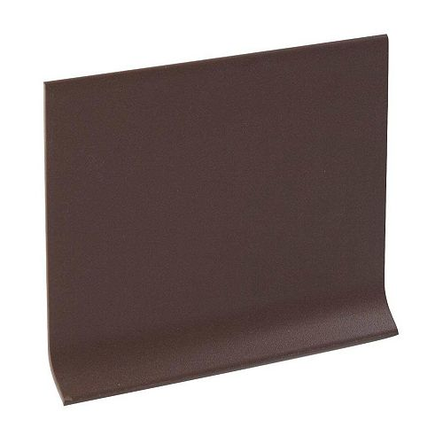 4 Inch Rubber Boxed Wall Base - 100 Feet - Brown