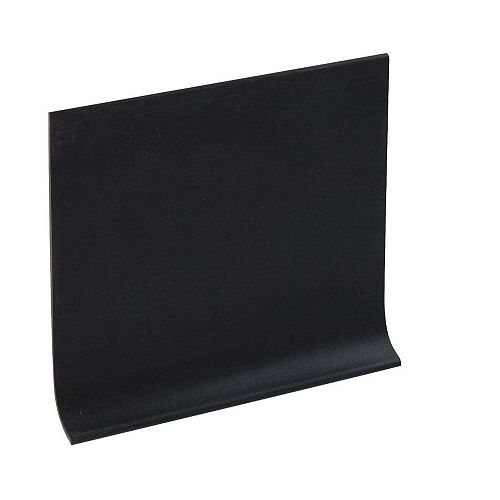 4 Inch Rubber Boxed Wall Base - 100 Feet - Black