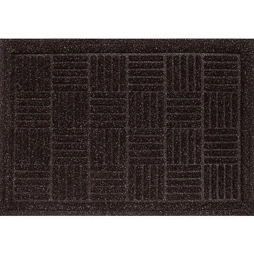 Paillasson rectangulaire Contour, 3pi x 4pi, brun