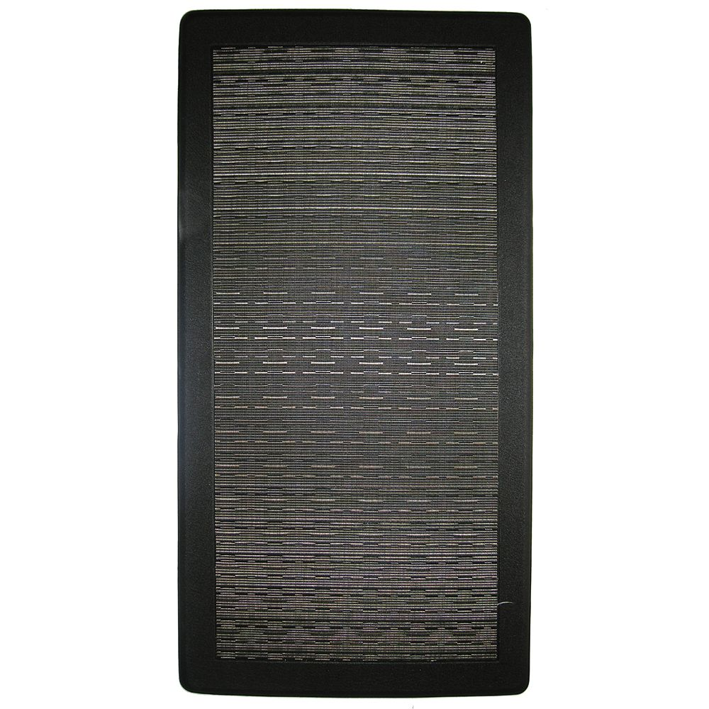 Home Decorators Collection Noir Petit Tapis Ergo Comfort 20 Pouces x 39 Pouces
