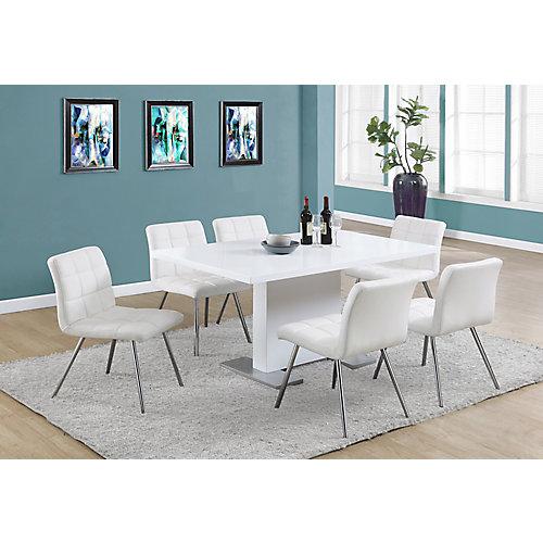 "Table A Manger - 35""X 60"" / Blanc Lustre"
